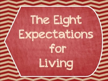 Great Expectations- The Eight Expectations For Living Posters- Shabby Chic- Red