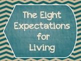 Great Expectations- The Eight Expectations For Living Posters- Shabby Chic- Teal