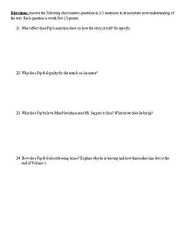 Great Expectations Volume 1 Quiz