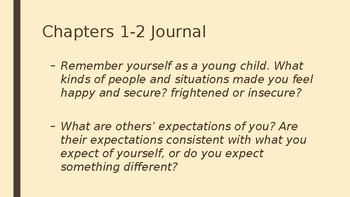 Great Expectations introduction to Chapter 1-2 PowerPoint with Journal Questions