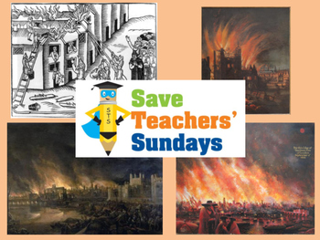 Great Fire of London historical evidence Lesson plan, PowerPoint & Writing frame