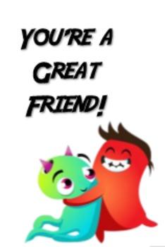 Great Friend Brag Tag Freebie - Dojo Theme