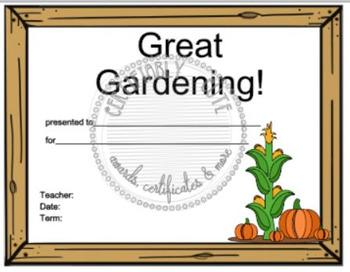 Great Gardening Certificate