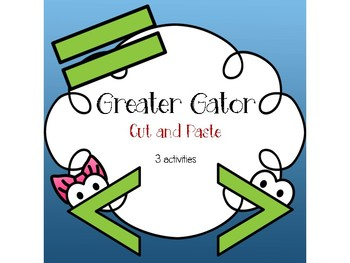 Great Gator Cut and Paste 0-10 [3 activities]