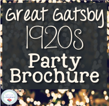 Great Gatsby 1920s Activity