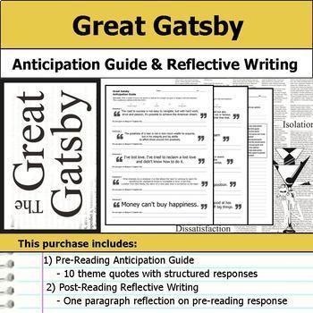 Great Gatsby Literary Analysis Unit