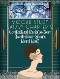 Great Gatsby Ch 2 Vocabulary Study: Contextual Redefinition and Think-Pair-Share