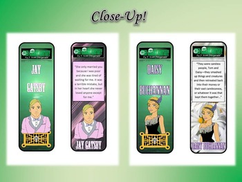 Great Gatsby by F. Scott Fitzgerald Bookmarks