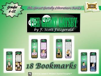Great Gatsby by F. Scott Fitzgerald Bookmarks