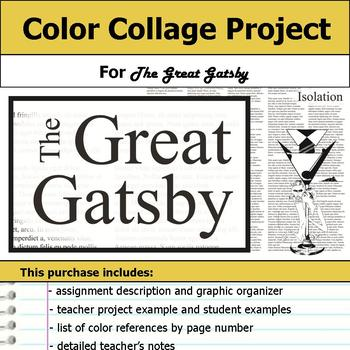 Great Gatsby Color Collage Project