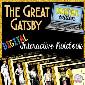 DIGITAL Great Gatsby Unit - High School ELA