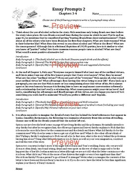 Great Gatsby Essay Prompt Pack