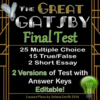 Great Gatsby Final Test