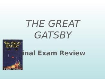 Great Gatsby Jeopardy Review