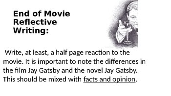 Great Gatsby Journal Prompts and Other Fun Activities
