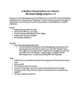 Great Gatsby Novel Study for Advanced Placement and American Literature