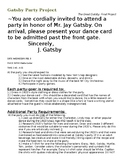 Great Gatsby Party Project