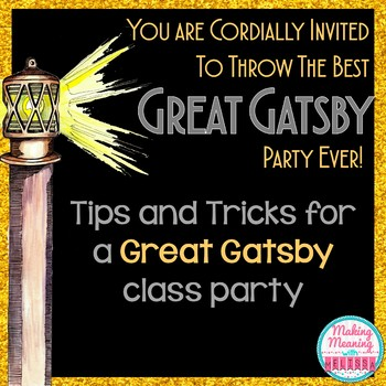 Great Gatsby Party for Class