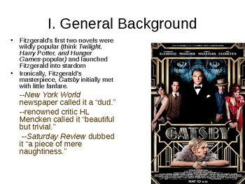 Great Gatsby PowerPoint: Introduction to the Novel