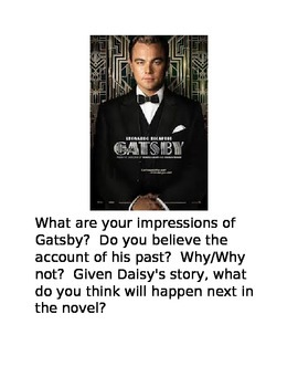 Great Gatsby Writing Prompts