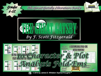 Great Gatsby by F. Scott Fitzgerald Activity Triple Pack