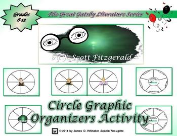 Great Gatsby by F. Scott Fitzgerald Circle Graphic Organiz