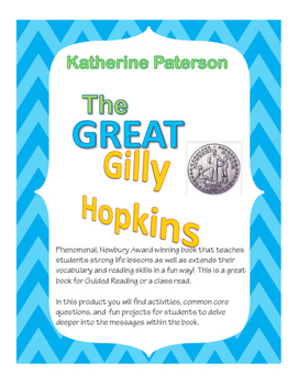 The Great Gilly Hopkins by: Katherine Paterson -STUDENT ACTIVITY