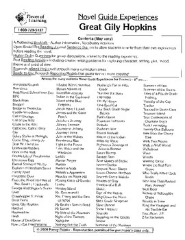 Great Gily Hopkins Literature Guide