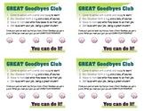 Great Goodbyes Reward Card