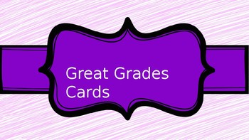 Great Grades Cards