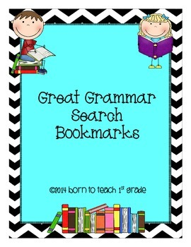 Great Grammar Search Bookmarks: Applying Grammar Skills to Books Read
