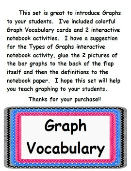 Great Graph Vocabulary Cards and Interactive Notebook Activities