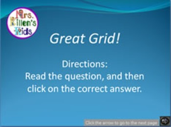 Great Grid! Practice Ordered Pairs