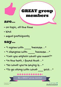 Great Group Members Poster