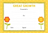Great Growth! Certificate