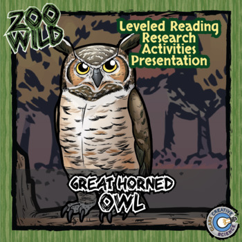 Great Horned Owl - 15 Zoo Wild Resources - Leveled Reading, Slides & Activities