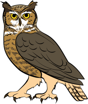 Great Horned Owl Clipart by Crafty Fox Designs | TpT