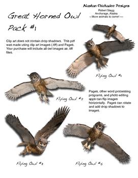 Great Horned Owl Pack #1