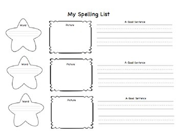 Great Introduction to spelling words and Homework