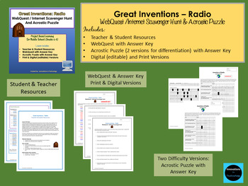 Great Inventions - Media Bundle:  Radio, Television & The Internet