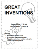 Great Inventions: Supplement to Wonders Unit 5, Week 3