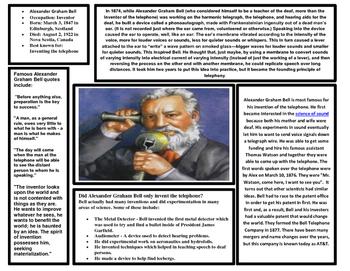 Great Inventors Articles (TEKS 2.4B) (Edison, Ford, Carver
