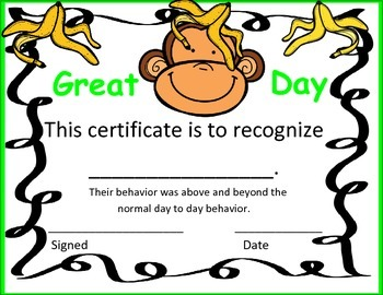 Great Day Certificate- Color