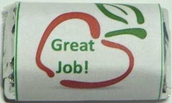 Great Job Reward Miniature Chocolate Candy Wrapper