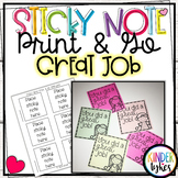 Great Job Sticky Note Print & Go Template