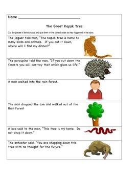 Great Kapok Tree Sequencing Freebie
