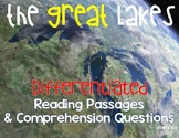 Great Lakes {Differentiated Close Reading Passages & Questions}