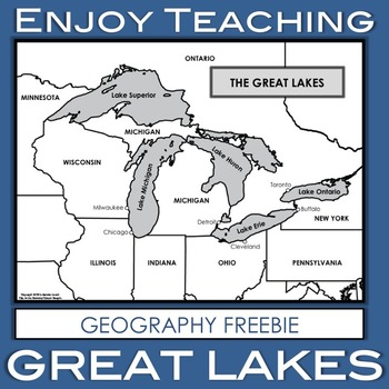 Great Lakes Geography Freebie