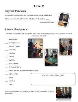 Great Lakes Science Center Scavenger Hunt