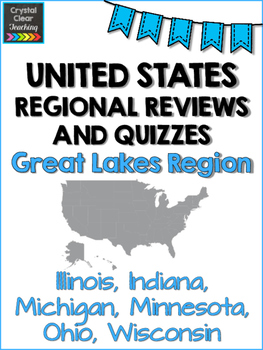 Great Lakes State Region Review Sheets and Quiz